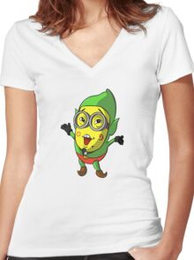 Minion/Tingle Women's Fitted V-Neck T-Shirt