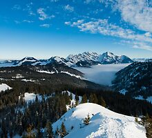 Säntis above clouds by peterwey