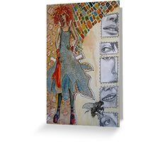 Paper Doll Greeting Card