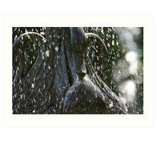 Swan Rain Art Print