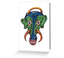 Mad Cow monster Greeting Card
