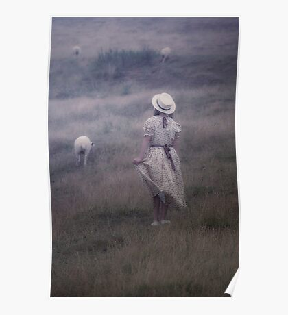 the girl and the sheep Poster