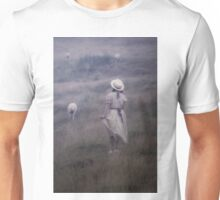 the girl and the sheep Unisex T-Shirt