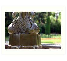 Swan Fountain Art Print
