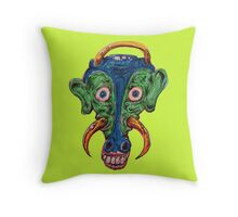 Mad Cow monster Throw Pillow