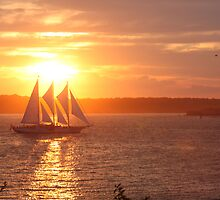 Sunset Over Newport by Ron LaFond
