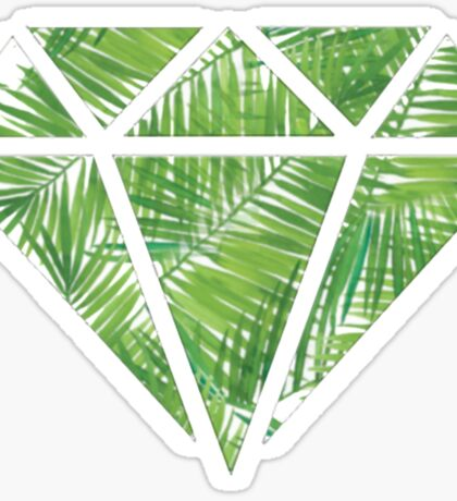 Palm Tree Diamond Sticker