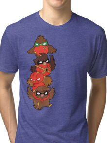 Go!Robins! - Lets fluff up! Tri-blend T-Shirt