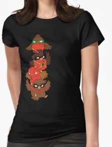Go!Robins! - Lets fluff up! Womens Fitted T-Shirt
