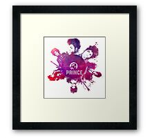 Prince Rogers Nelson - poster purple Framed Print