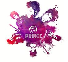Prince Rogers Nelson - poster purple Photographic Print