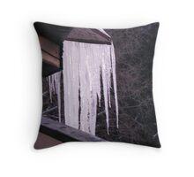 frosen sculpture Throw Pillow