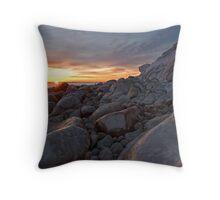 Icy Sunrise Throw Pillow