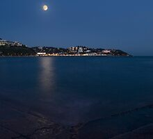 Torquay by night by David Clewer