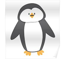 Cute little suited penguin Poster