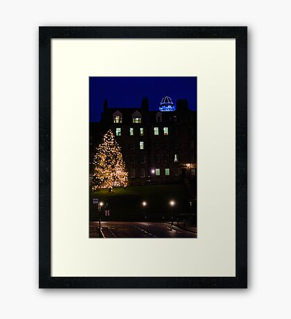 The Tree On The Mound II Framed Print