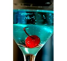 Blue Martini Photographic Print