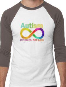 Autism.  Different.  Not Less. Men's Baseball ¾ T-Shirt