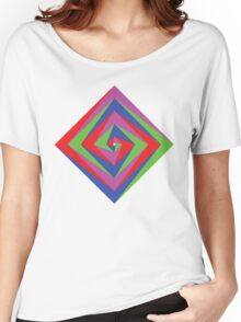 Angled Color Spiral Women's Relaxed Fit T-Shirt