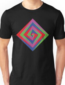 Angled Color Spiral Unisex T-Shirt