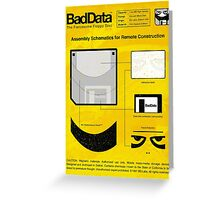 Bad Data: Assembly Instructions (Yellow) Greeting Card