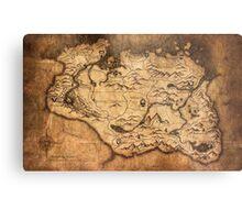 Distressed Maps: Elder Scrolls Skyrim Metal Print