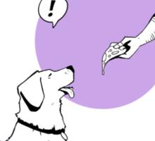 Hawkguy and Pizza Dog Sticker