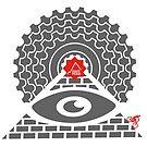 Mountain Bike T-Shirt - Pyramid - East Peak Apparel by springwoodbooks
