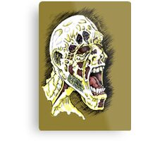 Screaming Zombie - Colourised Metal Print