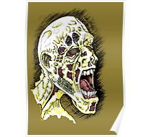Screaming Zombie - Colourised Poster