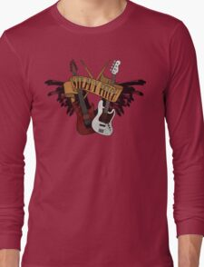 The Music Pitch... Rock'n'Roll and let your guitar, bass and drums rock! (Clear version) Long Sleeve T-Shirt