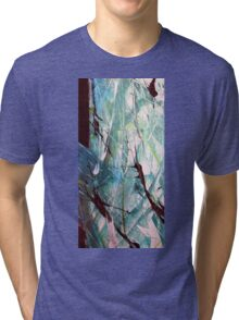 Worth It Abstract Acrylic Painting Tri-blend T-Shirt