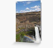 Rainbow Over Palouse Falls, Washington State Greeting Card