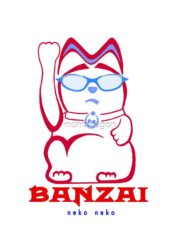Banzai Maneki Neko Neko by montdragon