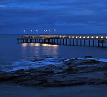 Lorne Peir at Night by Hicksy