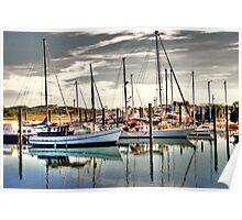 'Bowen Boat Harbour' Poster