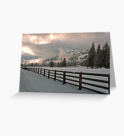 Snow & Clouds & Sun = Beauty Greeting Card