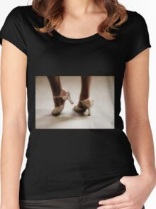 Dancing feet Women's Fitted Scoop T-Shirt