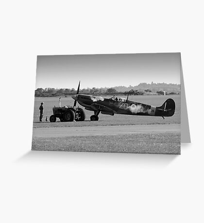 Ready for take-off Spitfire & Pilot Greeting Card