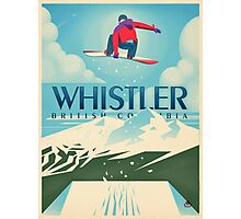 """Snowboard Booter"" Whistler, BC Travel Poster Photographic Print"