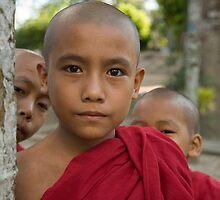 Burmese novice monks by Kevin Hayden
