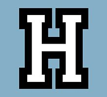 Letter H two-color by theshirtshops