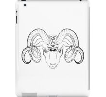 Longhorn sheep head sketch iPad Case/Skin