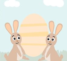 Easter Bunny Rabbits by JoshCooper