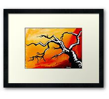 limbs outstretched... Framed Print