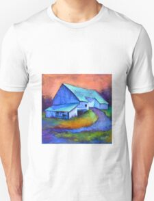Gauguin's Barn Revisited, from original pastel by Madeleine Kelly Unisex T-Shirt