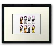 Will you? Cartoon Cats. Framed Print
