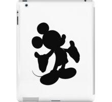 Black Mickey Mouse Silhouette iPad Case/Skin