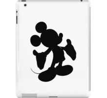 Black Mickey Mouse Silhouette iPad Case/Skin