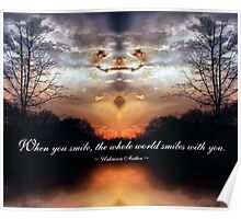 When you smile - Unknown Author Poster